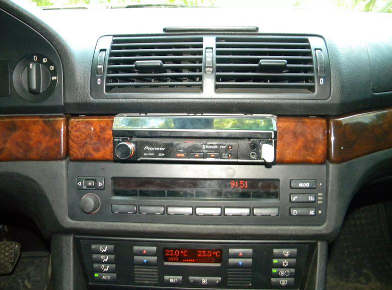 БМВ е39 с кассетной штатной магнитолой